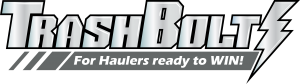 TrashBolt Logo. Tag Line is For Haulers Ready to Win.